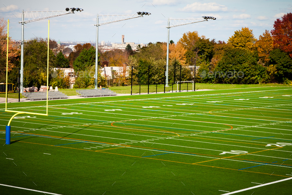 Football field - Stock Photo - Images