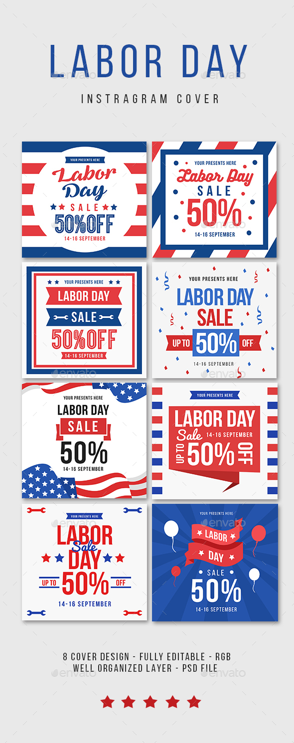 Labor day Instagram Cover - Social Media Web Elements
