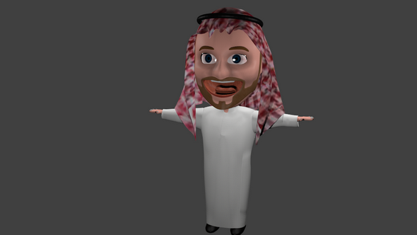 arabic man - 3DOcean Item for Sale
