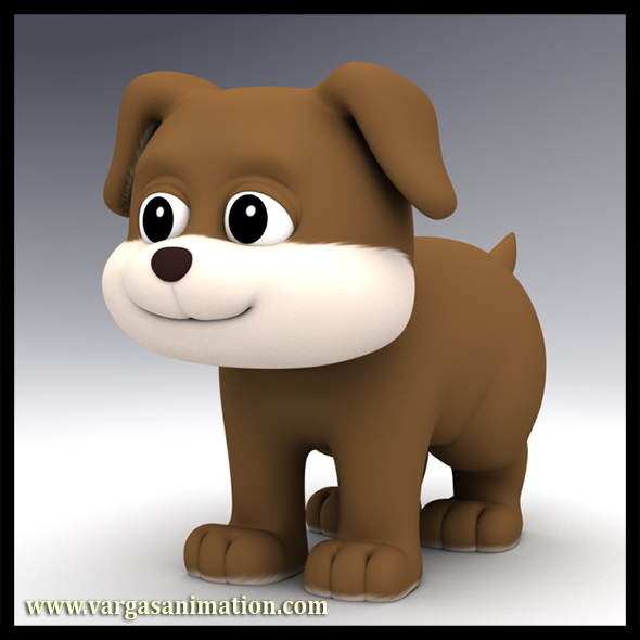 Cartoon Dog - 3DOcean Item for Sale