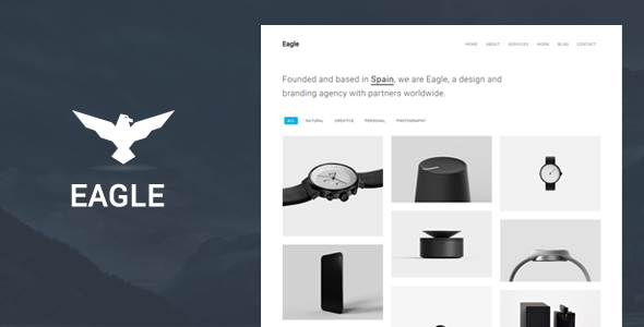 ThemeForest Eagle Responsive Minimal WordPress Theme 20416108