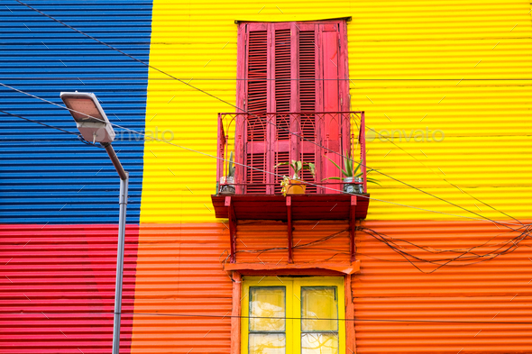 Colorful house in La Boca, Argentina - Stock Photo - Images