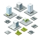 Set of Isometric City Landscape Design Elements