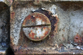 Detail of a rusty screw on an iron structure - PhotoDune Item for Sale