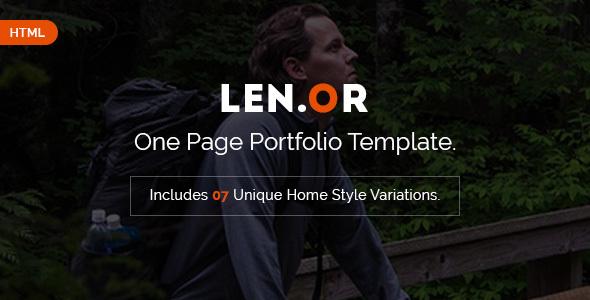 Lenor - Responsive Portfolio HTML Template
