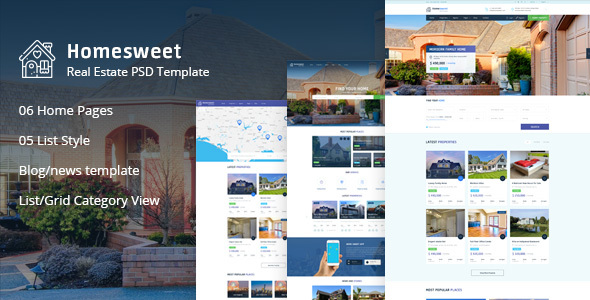 homesweet - real estate wordpress theme (real estate) HomeSweet – Real Estate WordPress Theme (Real Estate) preview