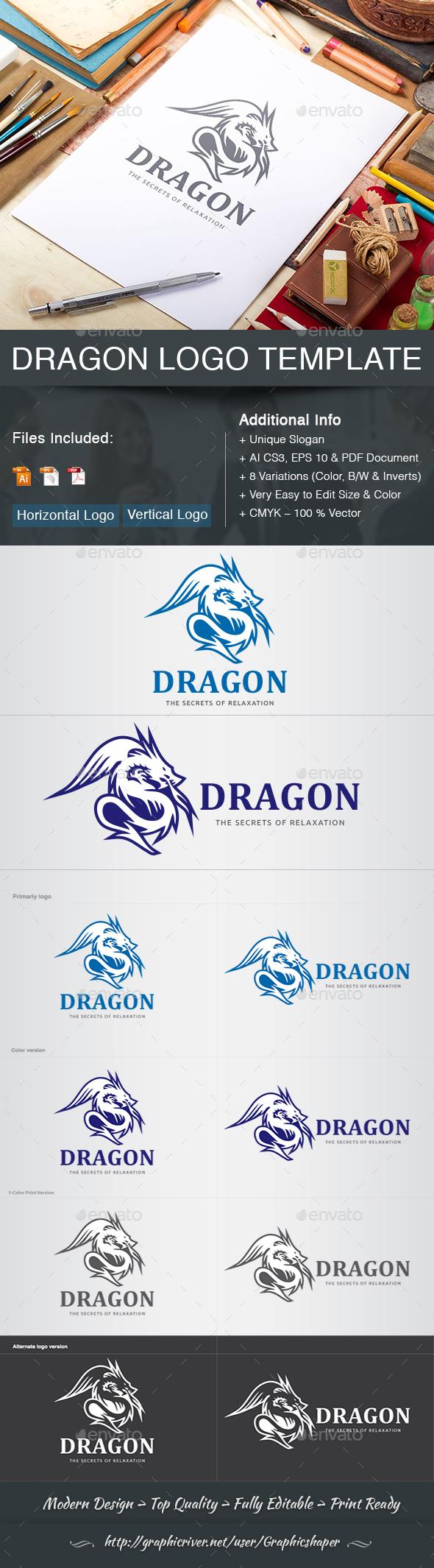 GraphicRiver Dragon Logo 20560972