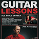 Guitar Lessons Flyer Template V1 - GraphicRiver Item for Sale