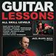 Guitar Lessons Flyer Template V1