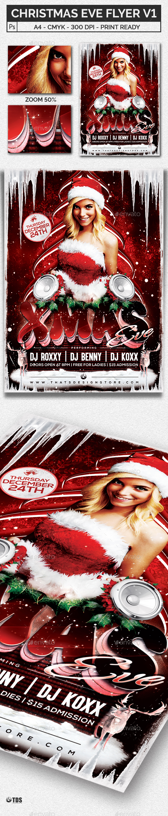 Christmas Eve Flyer Template V1 - Holidays Events