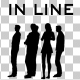 Creative People Silhouettes Standing in Line