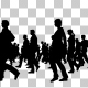 Creative People Silhouettes Walking - VideoHive Item for Sale