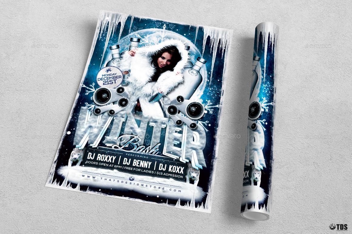 Winter Bash Flyer Template V1 by lou606 – Azure Flyer Template