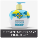 Cosmetic Bottle Dispenser Mock-Up V.2 - GraphicRiver Item for Sale