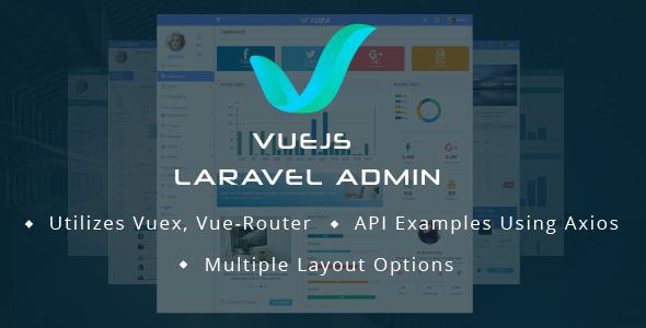 Image of VueJS Laravel Admin Template