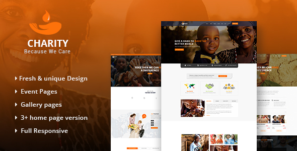 Image of Charity - HTML Template for Charity & Non Profit Organization