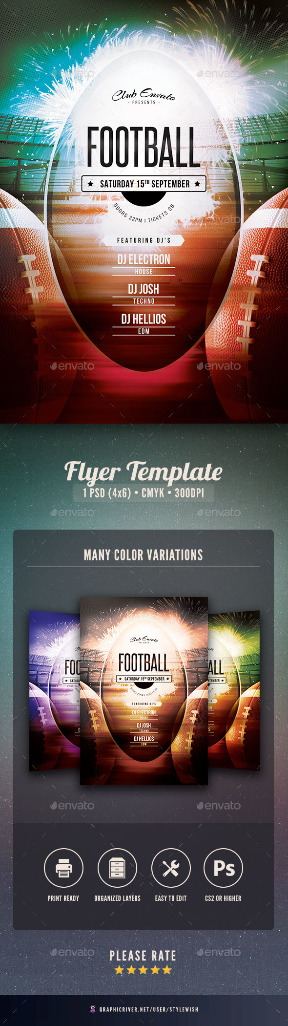 GraphicRiver Football Flyer 20561816
