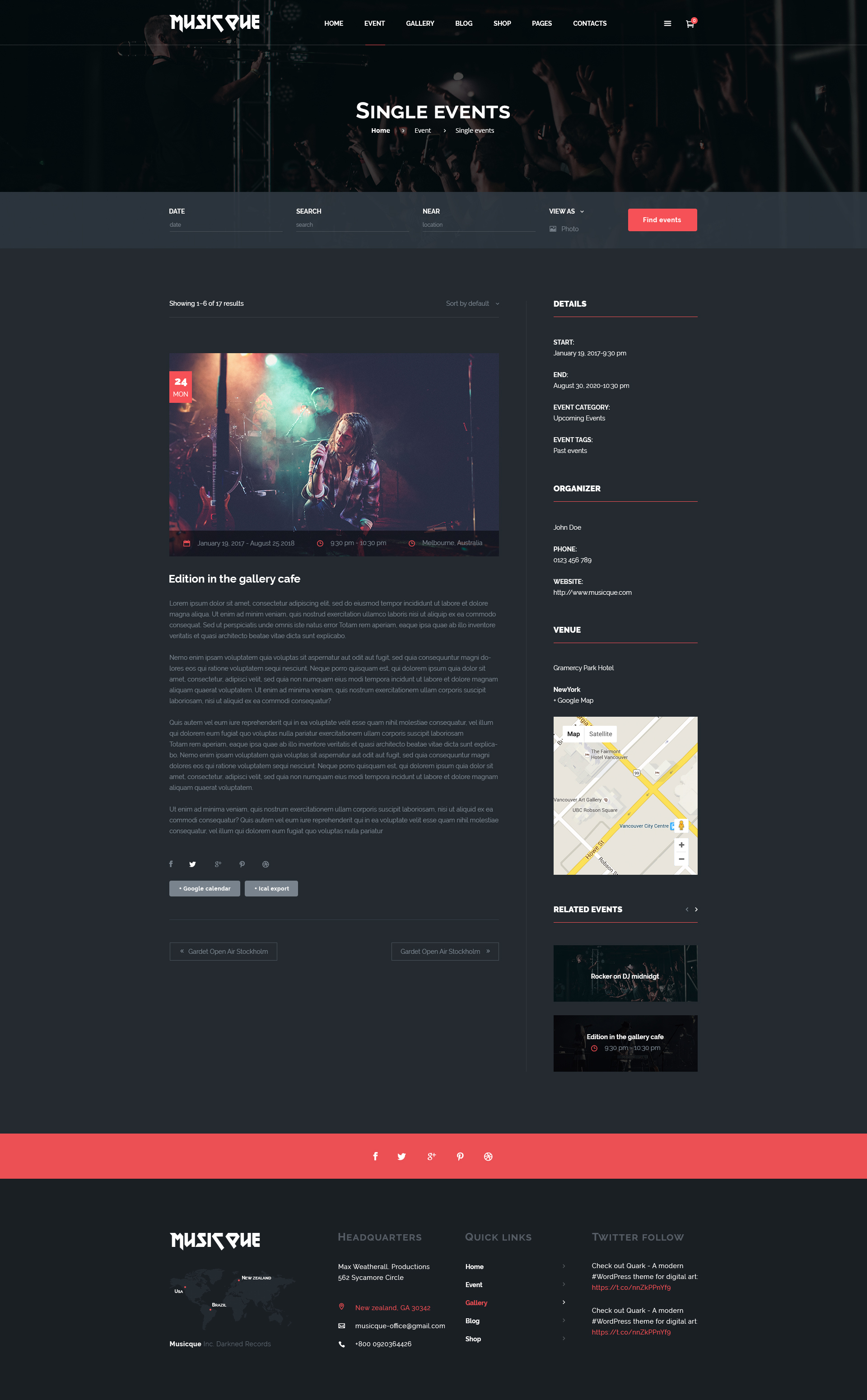 Musicque - Music Band Event PSD Template by MiloTheme | ThemeForest