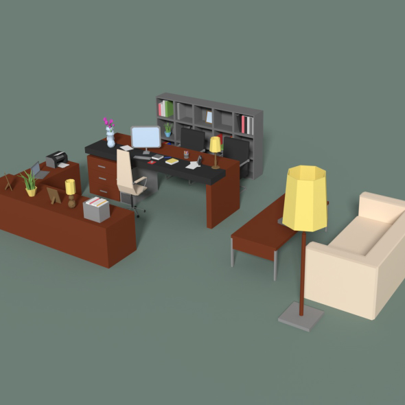 Low Poly Managers Room - 3DOcean Item for Sale