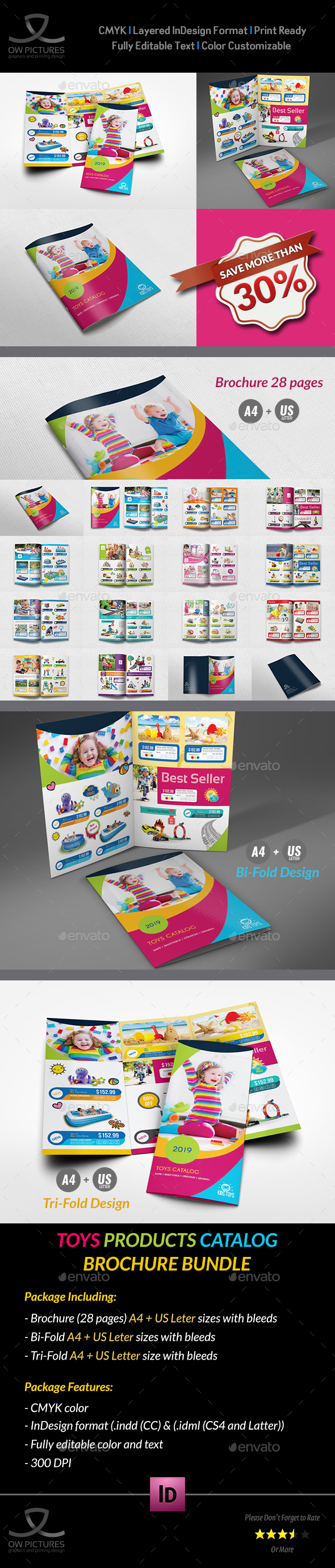 Toys Products Catalog Brochure Bundle Template - Catalogs Brochures