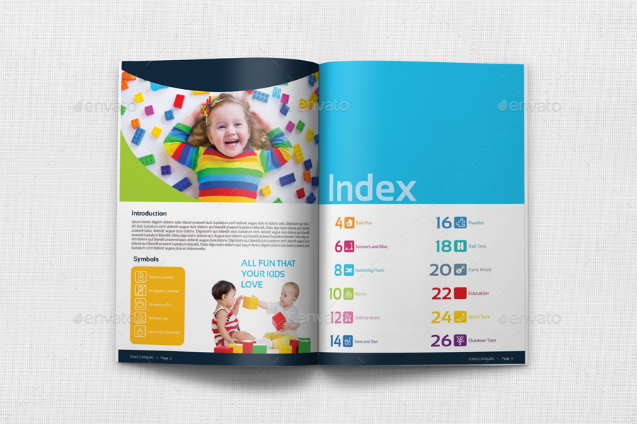 Toys Products Catalog Brochure Bundle Template By OWPictures - Product brochure template