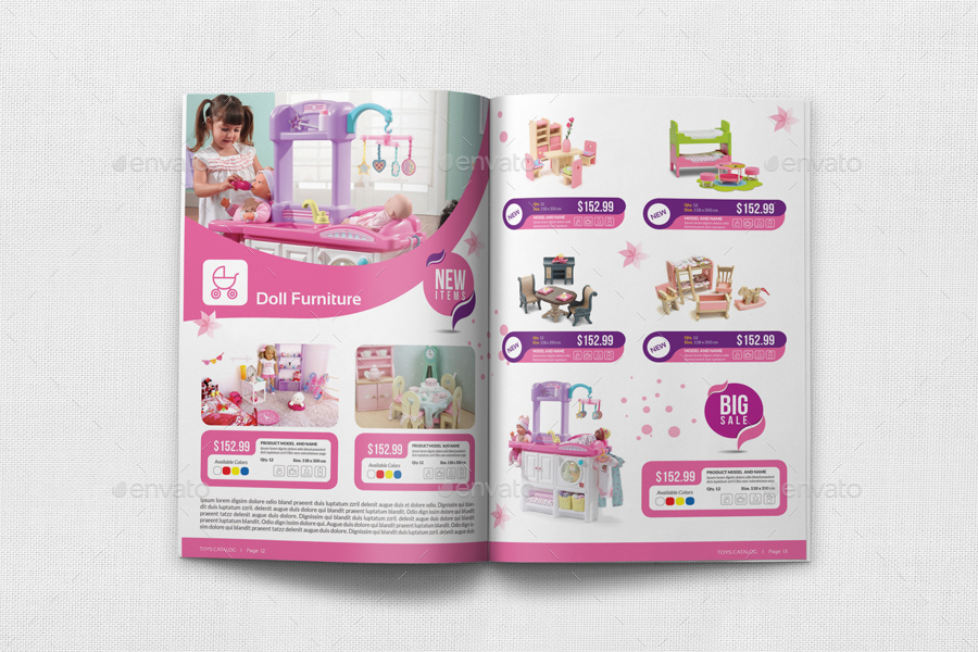 Catalog Template   Toys Products Catalog Brochure Bundle Template By Owpictures