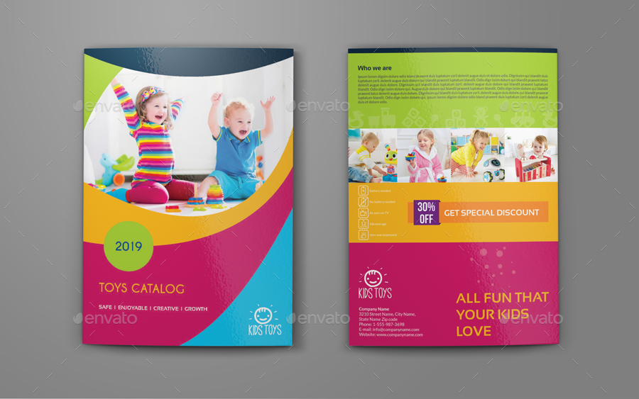 Toys Products Catalog Brochure Bundle Template by OWPictures ...