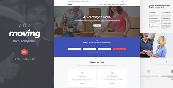 Moving - Removals and Moving HTML5 Template - Business Corporate