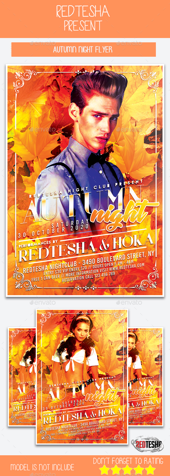 GraphicRiver Autumn Night Flyer 20562081