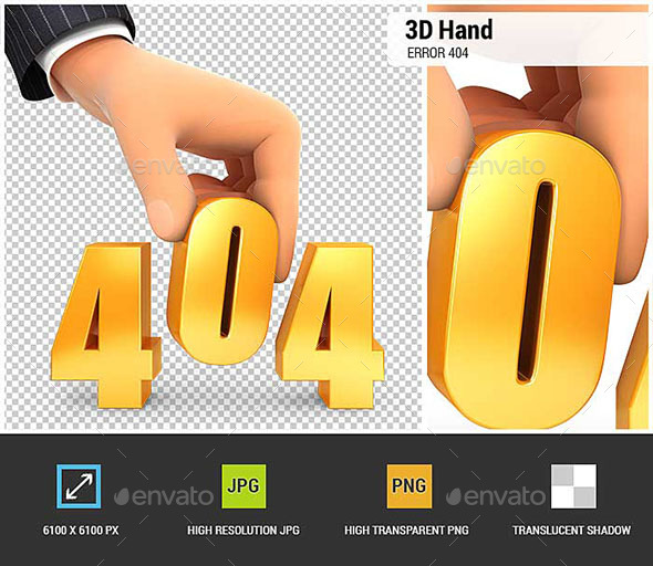 GraphicRiver 3D Hand and Error 404 Concept 20562125
