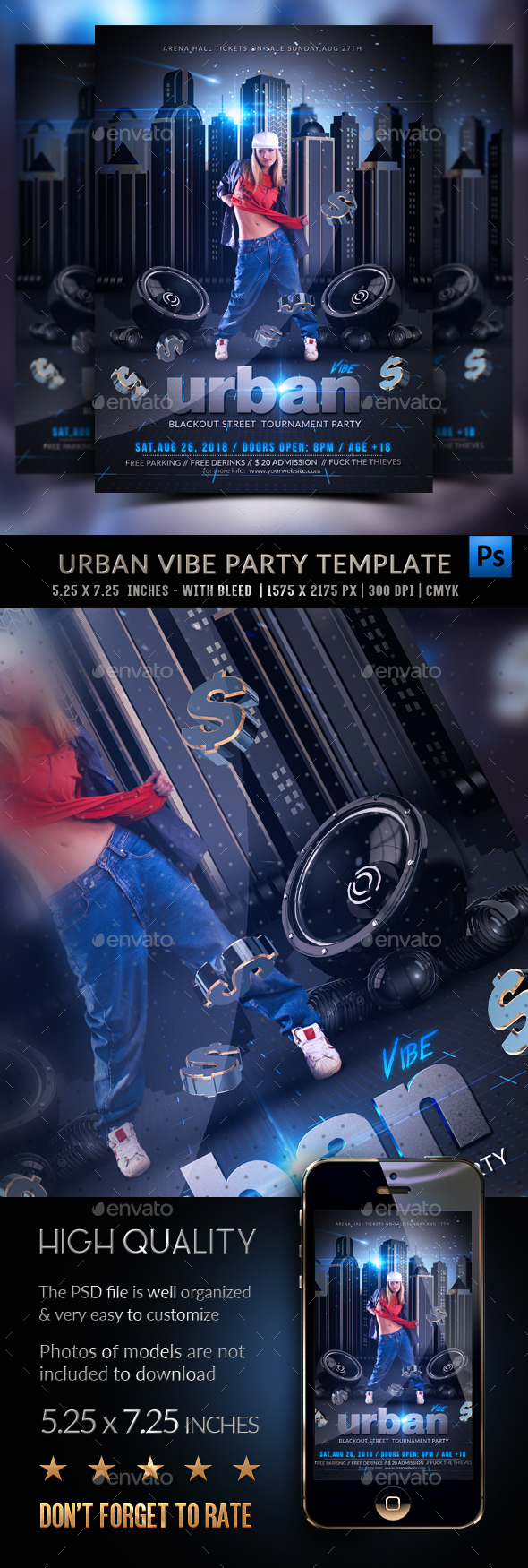 Urban Vibe Flyer Template - Events Flyers