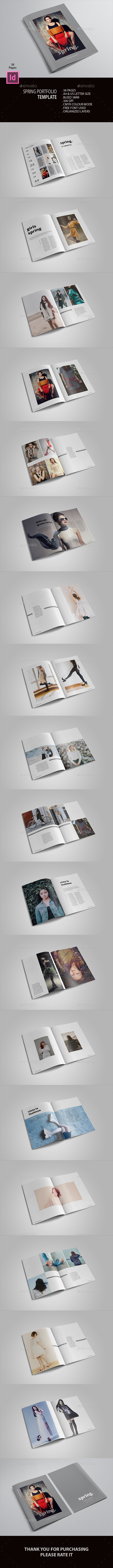 Spring Portfolio - Brochures Print Templates