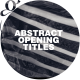 Abstract Opening Titles - VideoHive Item for Sale