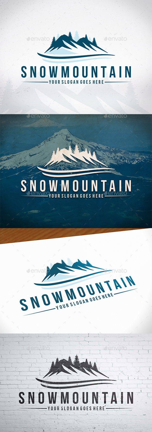 Snow Mountain Logo Template - Nature Logo Templates
