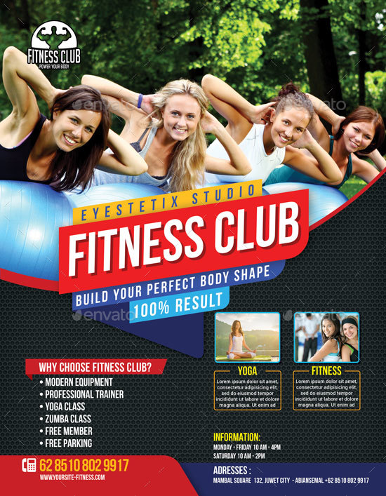 Sport Fitness Club Flyer