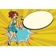 Pop Art Retro Woman Shouts with Joy, Positive - GraphicRiver Item for Sale