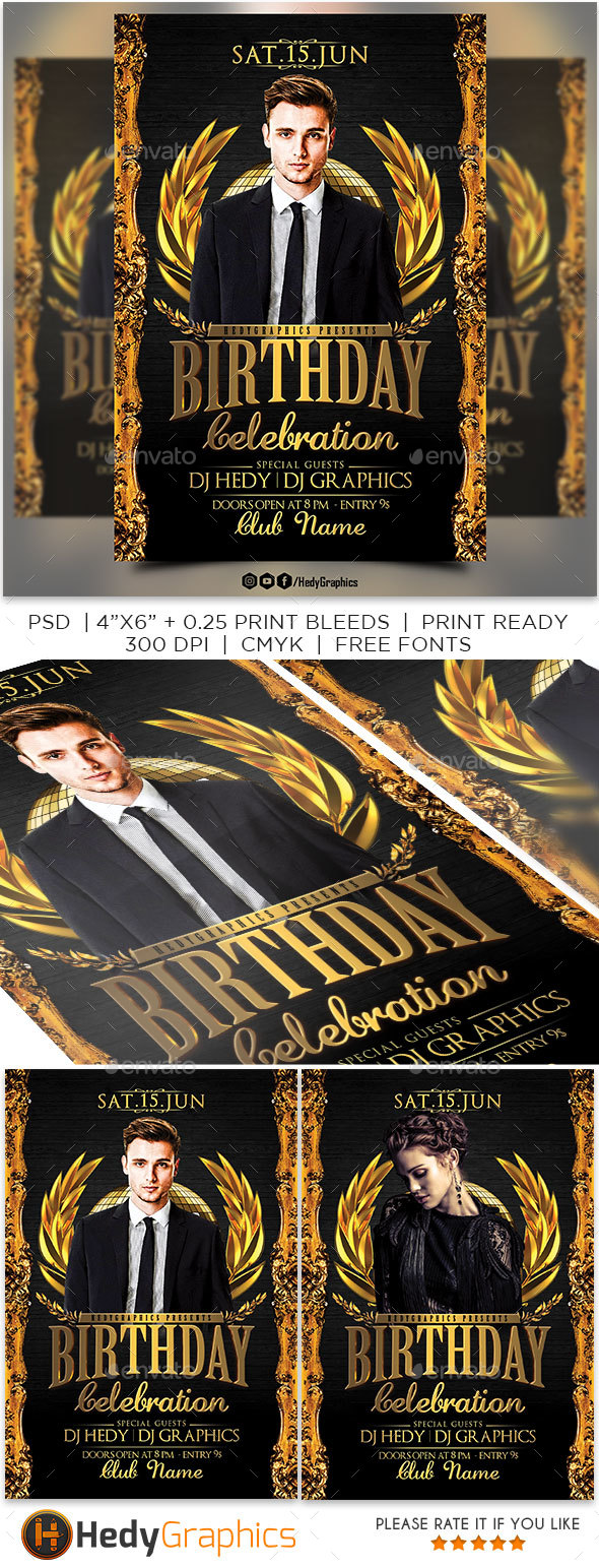 GraphicRiver Birthday Celebration Flyer 20562615