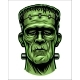 Color Illustration of Frankenstein Head