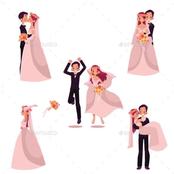 GraphicRiver Happy Wedding Couple Set 20562858