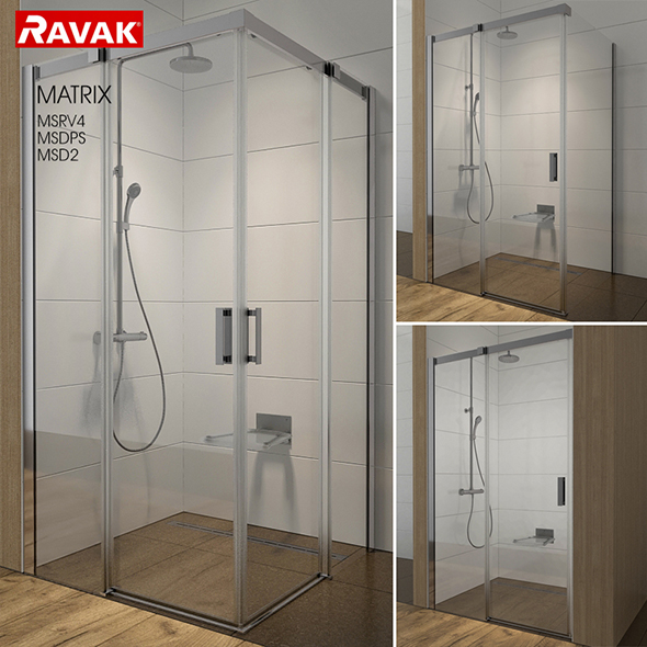 Shower room RAVAK Matrix - 3DOcean Item for Sale