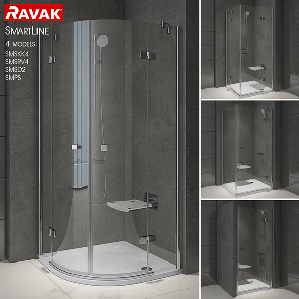 3DOcean Shower room RAVAK SmartLine 20563248