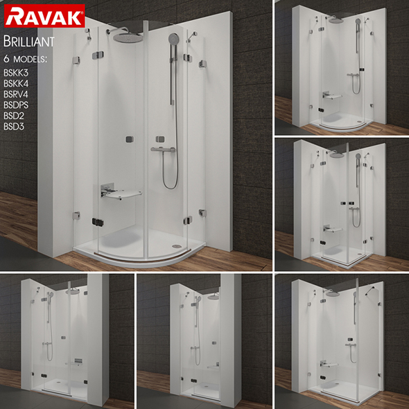 Shower room RAVAK Brilliant - 3DOcean Item for Sale