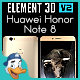 Huawei Honor Note 8 for Element 3D - 3DOcean Item for Sale