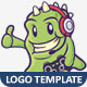 Gamer Monster Vector Logo Template