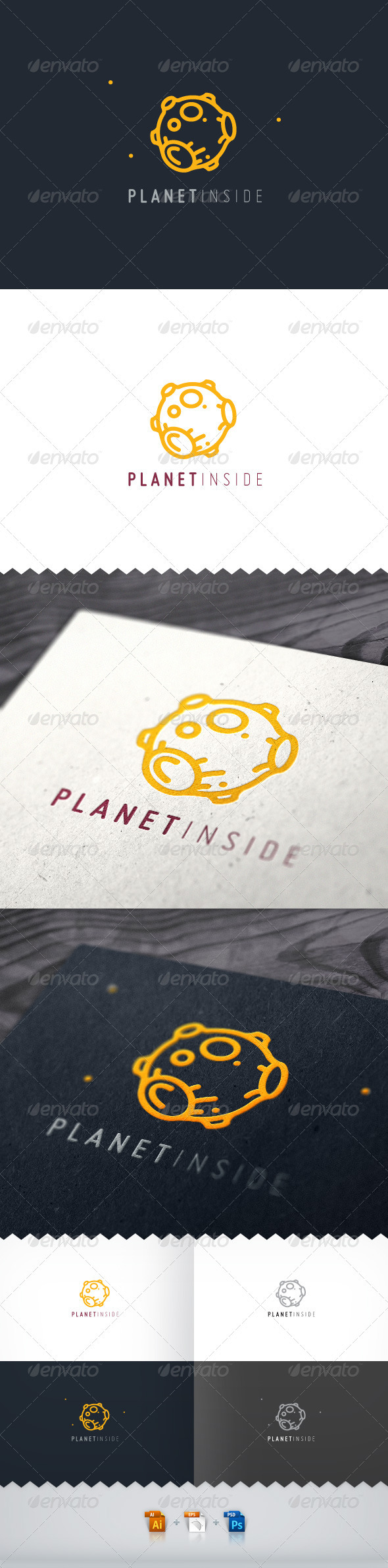 Planet Inside Logo - Objects Logo Templates