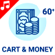 Cart Coin Money Cashier Currency Animation - Line Icons and Elements