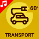 Transport Vehicle Traffic Animation - Line Icons and Elements - VideoHive Item for Sale