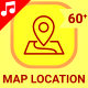 Route Map Location Travel Navigation Animation - Line Icons and Elements
