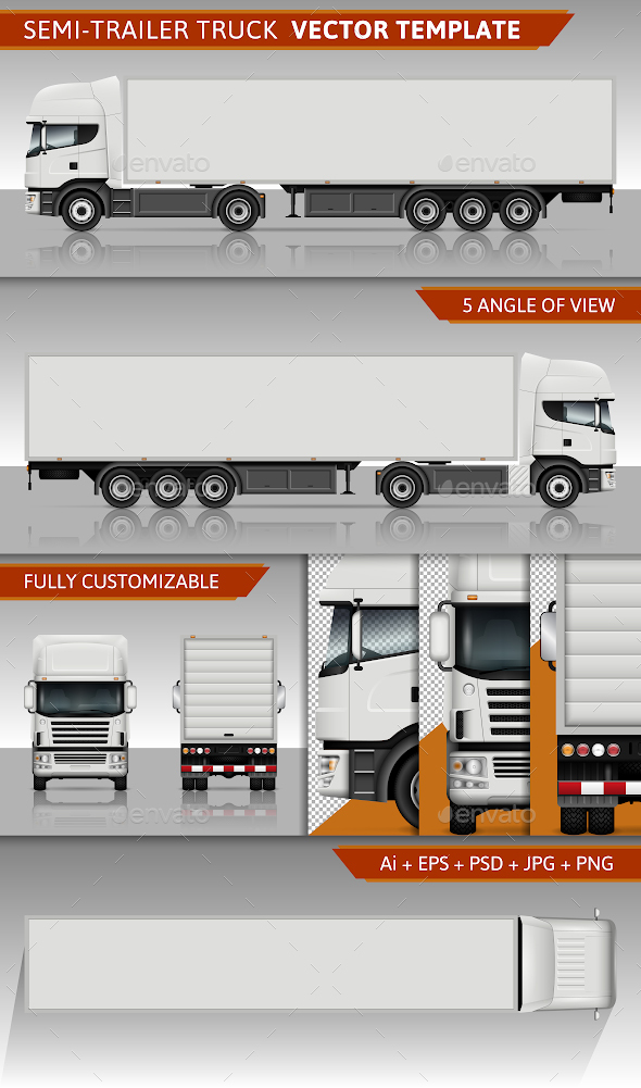 GraphicRiver Semi-Trailer Truck 20564030