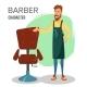 Cartoon Barber Character